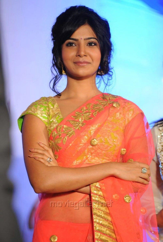Telugu Heroine Samantha Saree Photos Samantha In Saree Beautiful Actresses Indian Girls