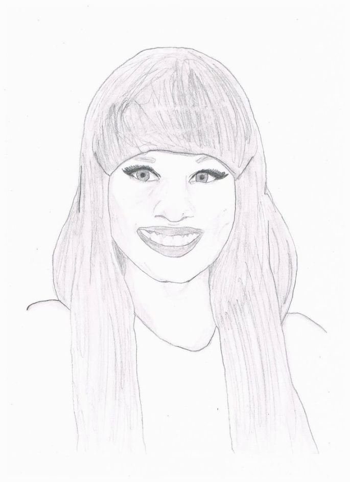 Nicki Minaj Coloring Pages Coloring Pages Dibujos A Lapiz Nicki