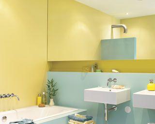 Peinture pour salle de bain, déco petite salle de bain - Dulux ...