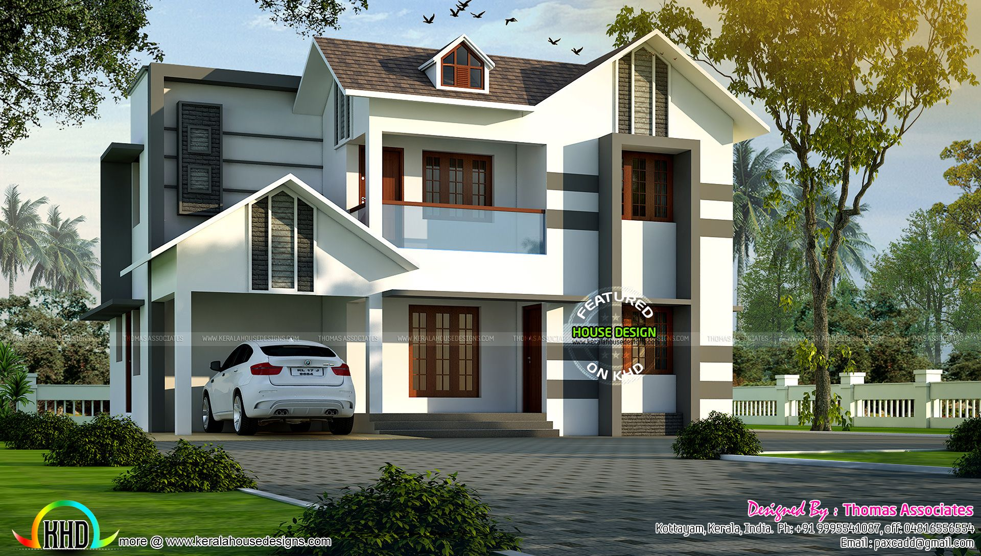 bhk villa sq ft kerala home design floor plans bedroom modern sq ft rh pinterest com