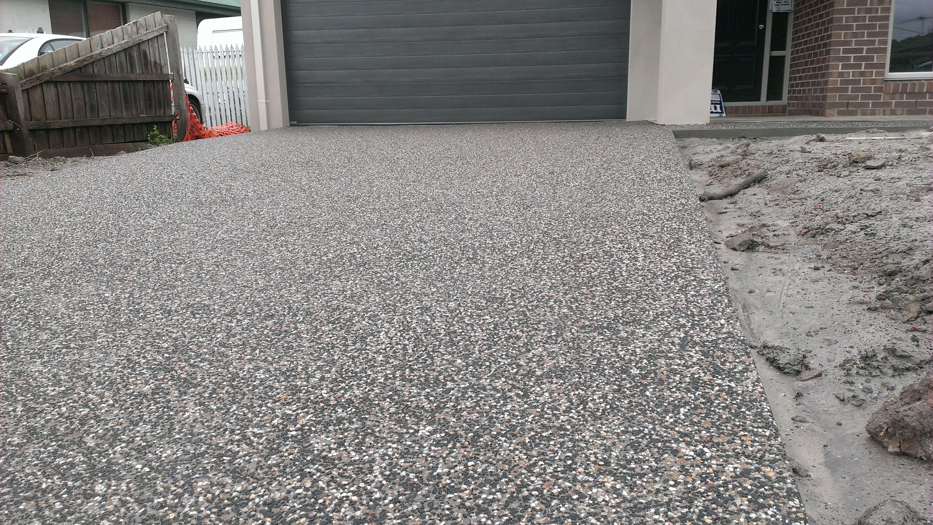 Exposed aggregate driveway my concrete pinterest for Exposed concrete floor