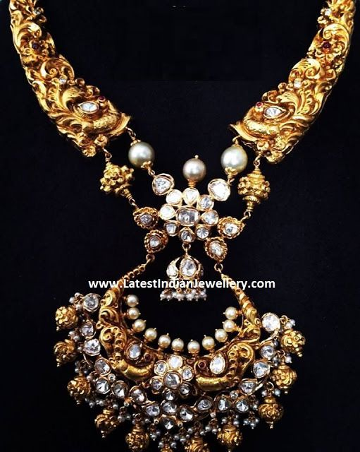 aed5dd9519fab Chandbali Pendant Nakshi Necklace | jewellery | Jewelry, Gold ...