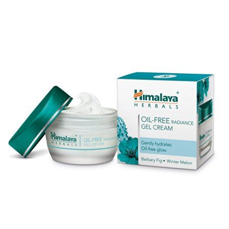 Himalaya Herbals Oil Free Radiance Gel Cream Is A Light And Non Greasy Daily Use Gel Cream Cream For Oily Skin Moisturizer For Oily Skin Oil Free Moisturizers