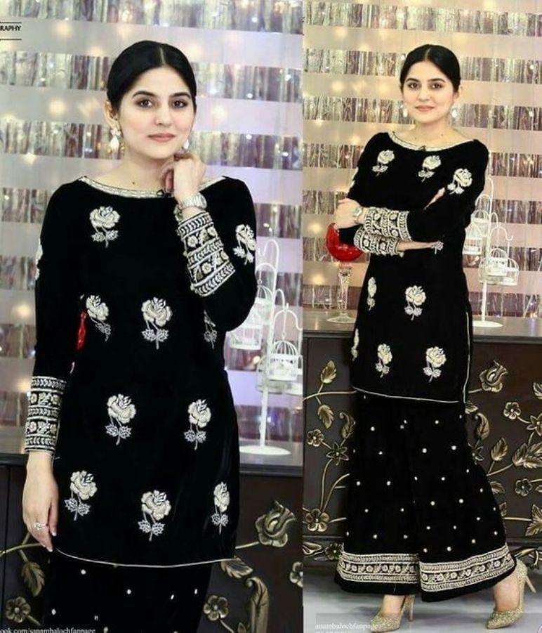 0c7241b3a Latest Velvet Salwar Kameez Designs For Winter Season