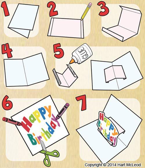 Instructions For Making A Pop Up Card Diy Pop Up Cards Pop Up Book Pop Up Art