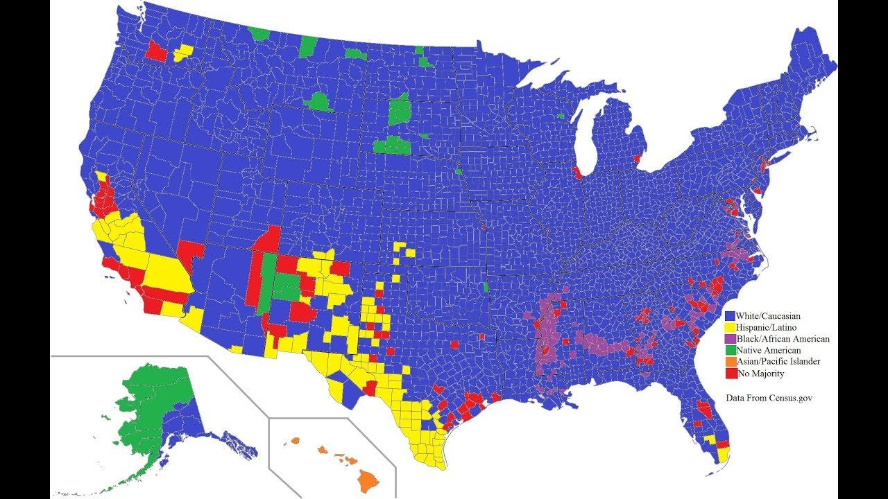 How The Us Census Can Be Improved When It Comes To Racial - Us-census-map