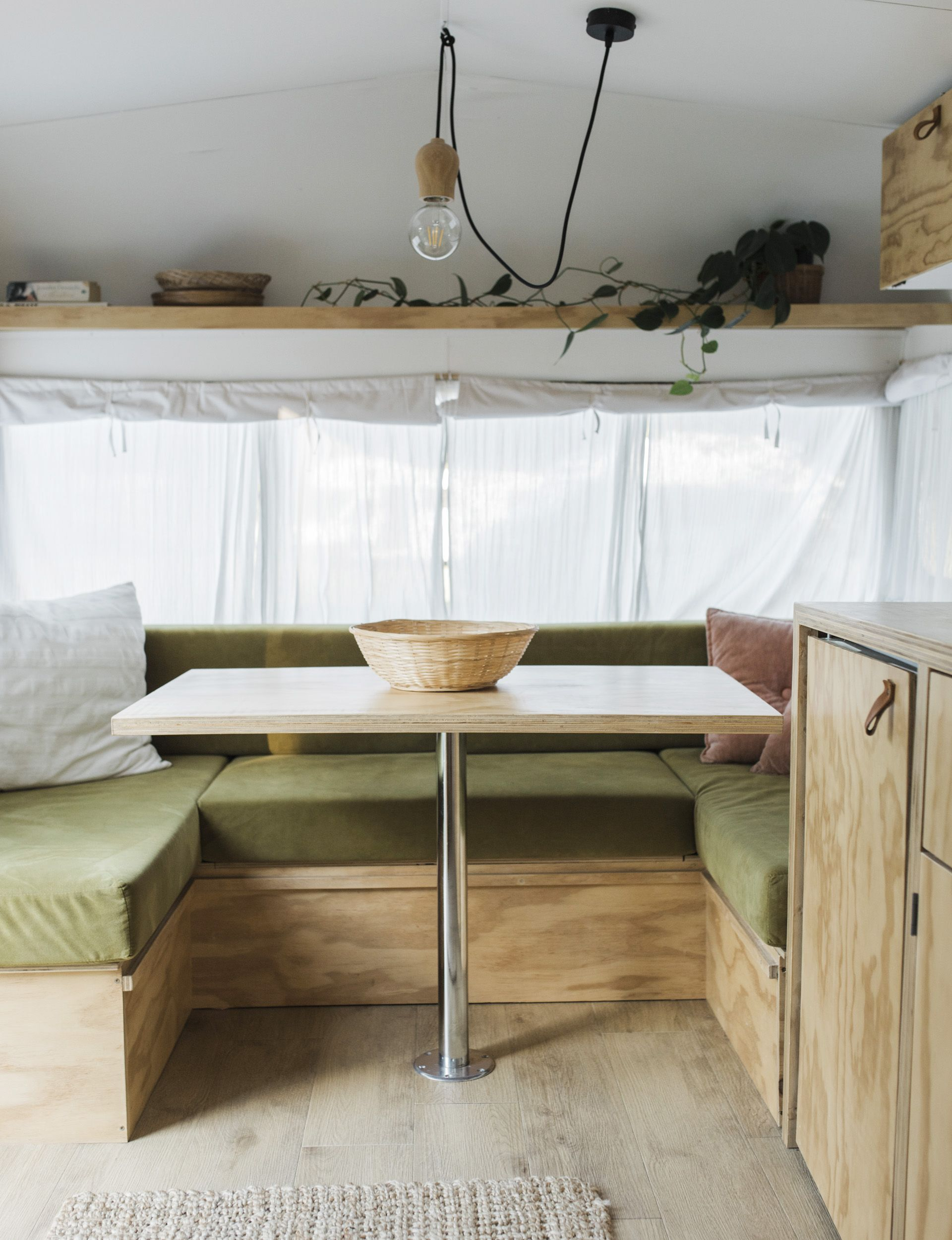 This chic summer caravan mixes old-school styling with modern finesse