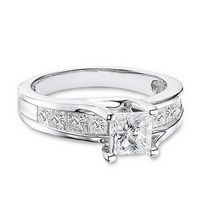 Princess Diamond Engagement Ring 1 1/2ctw | Jared ...