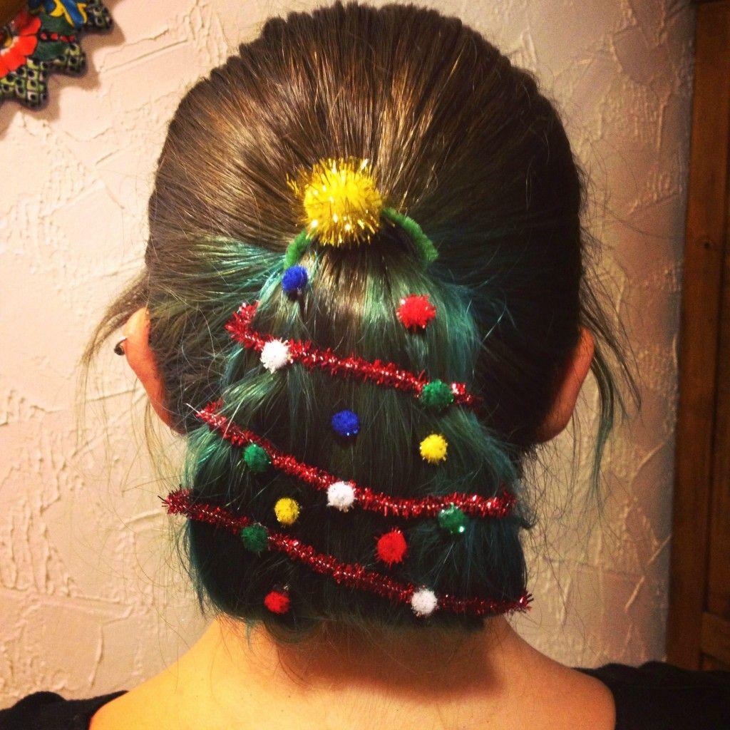 Christmas Tree Hair 6 Hair Styles Christmas Hairstyles Christmas Tree Hair