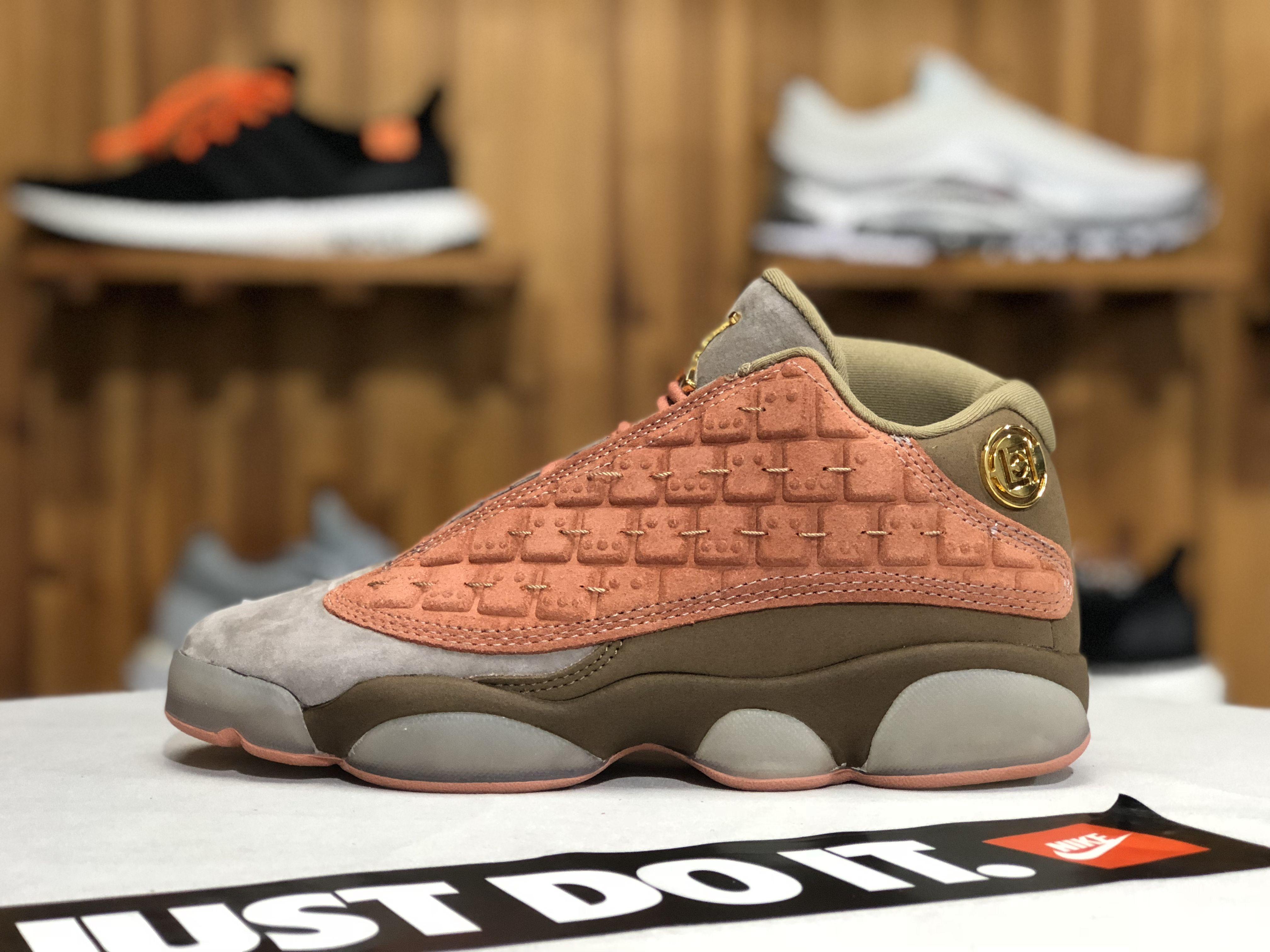 aa6daa29832 Buy CLOT x Air Jordan 13 Retro Low Sepia Stone/Canteen-Terra Blush ...