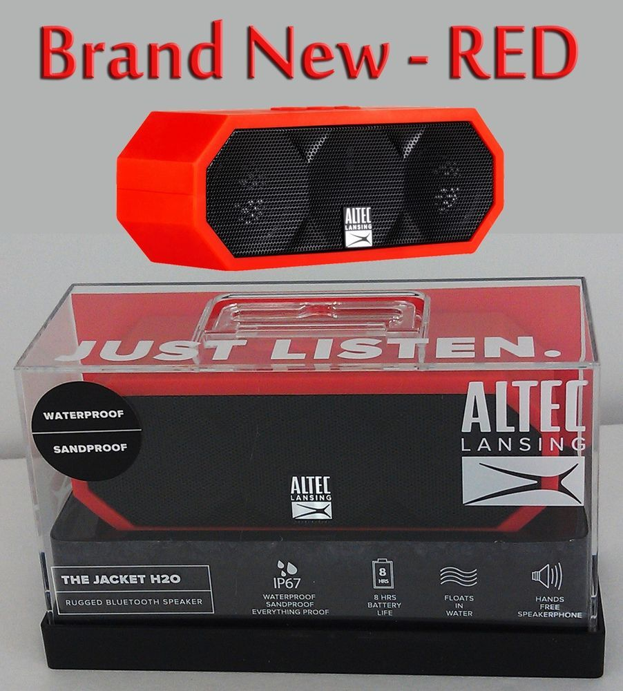 44 99 Altec Lansing The Jacket H20 Bluetooth Speaker Red