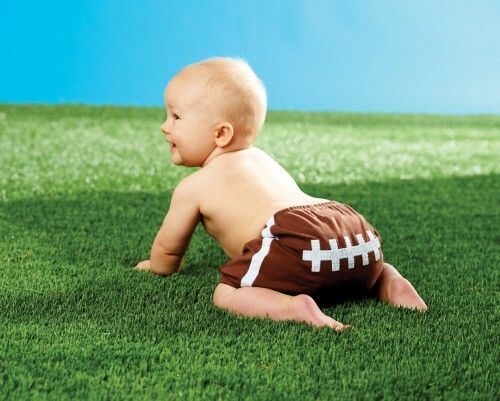 Football Diaper Cover (0-6) by Mud Pie