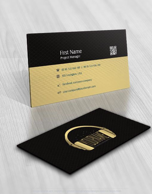 01009 Dj Logo Business Card Design