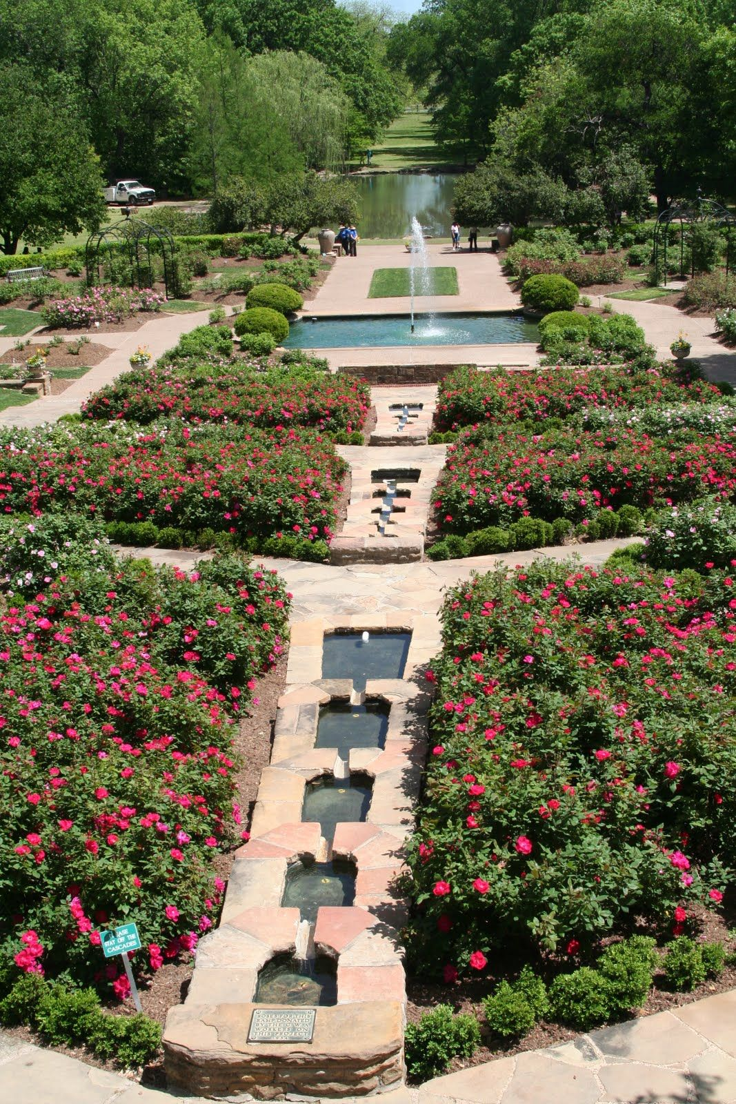 Lower Rose Garden rose garden inspired by Villa Lante