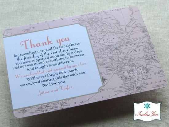 Wedding Reception Thank You Card Wording