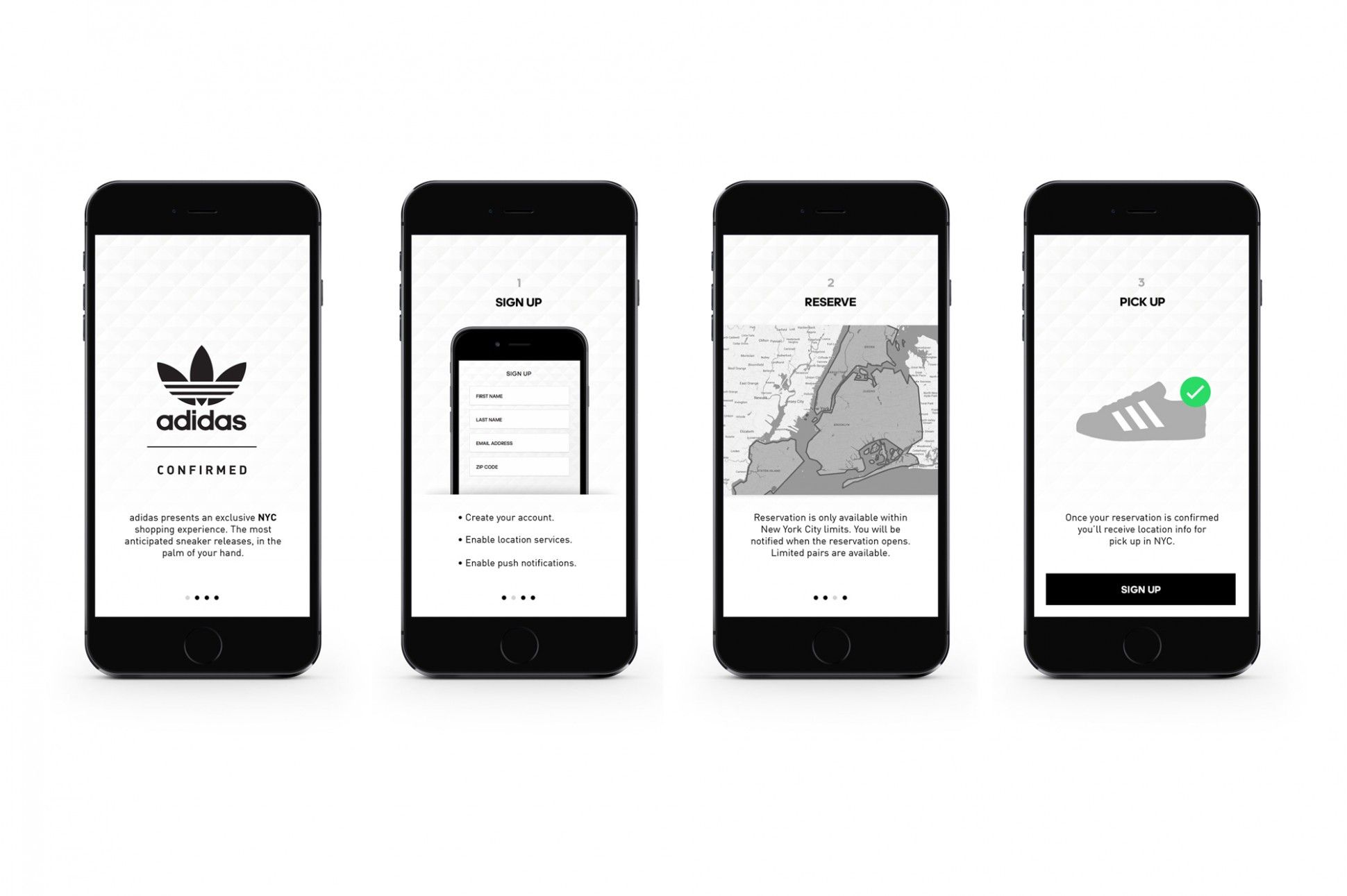 Adidas Launches Footwear Industry s First Reservation Mobile App ... c8e7015a4