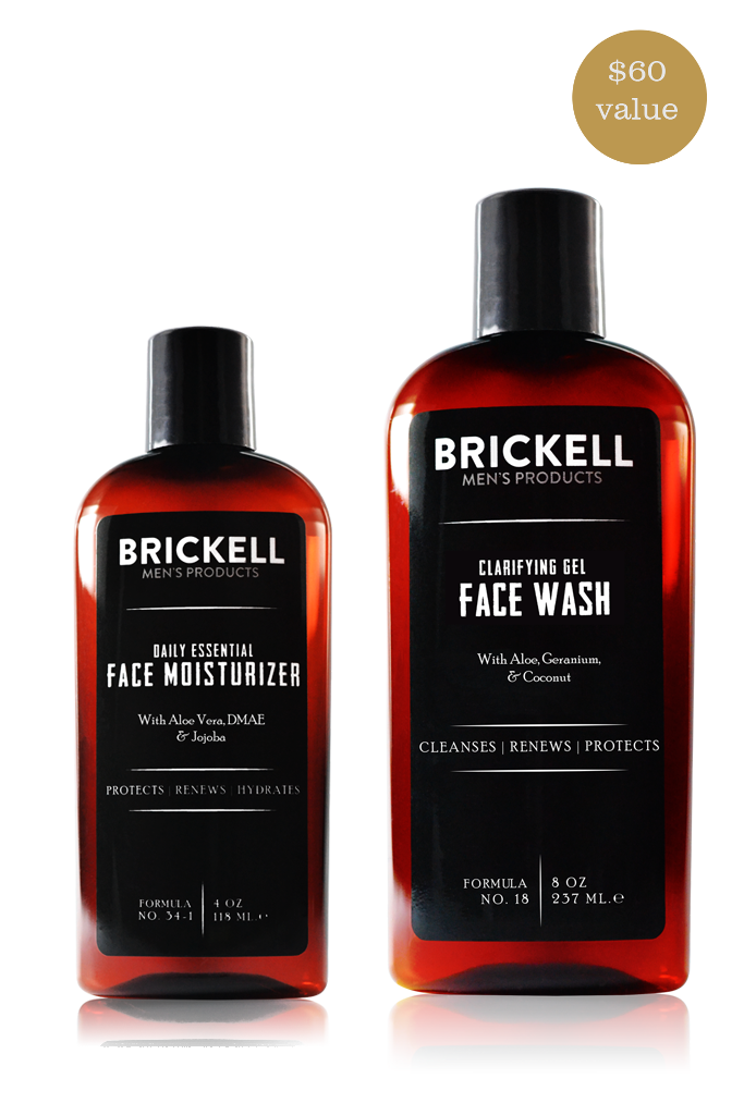 Brickell Men S Daily Essential Face Care Routine I Face Care Routine Mens Skin Care Gel Face Wash