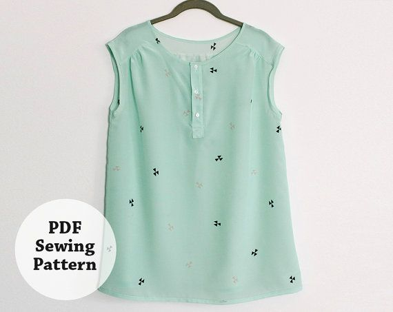 Mercer Tunic Pdf Sewing Pattern Womens Apparel Sewing