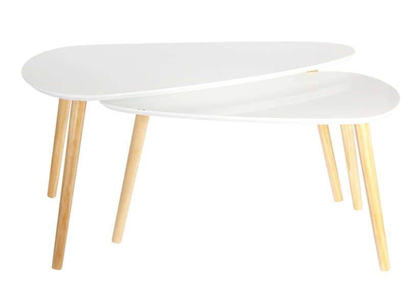 Tables Basses Gigognes Hanna Coloris Blanc Vente De Table Basse Conforama Table Basse Gigogne Table Basse Table Basse Conforama