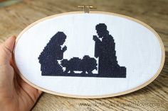 Today I am stopping by just briefly to share a new pattern I'm offering in my etsy shop: Nativity Silhouette Cross Stitch Pattern. This pattern, like many in my etsy shop, is only $2 and will begin to download instantly once the transaction is complete. So, if you are looking for a sweet little something …