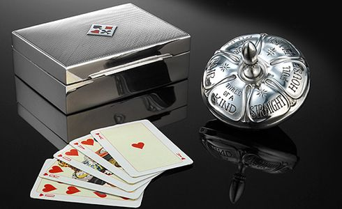 Ralph Lauren's silver poker card box and spinning mark of the 30s