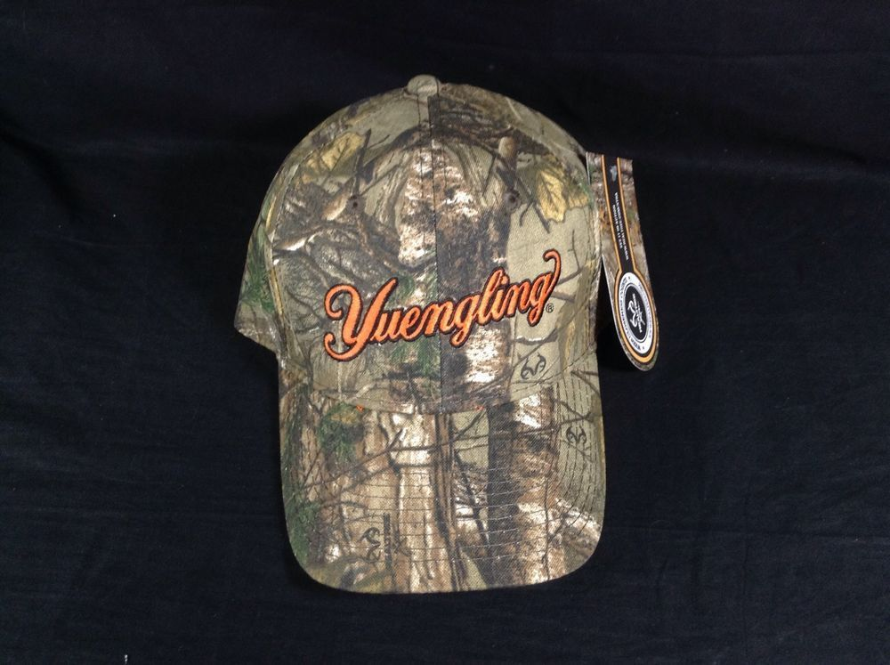 cf049b95 Yuengling Lager Beer Hat Realtree Hunting Camo Camouflage New w/Tags!  #Realtree #BaseballCap #cjbeez