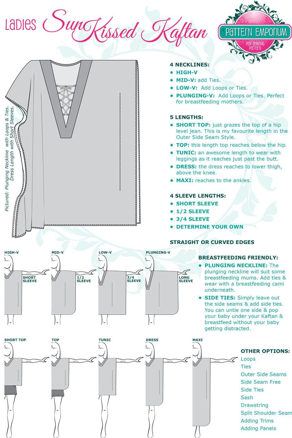 Sunkissed Kaftan Sewing Pattern by Pattern Emporium | \