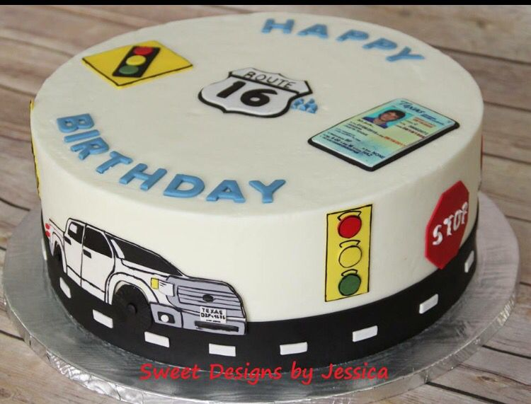 16th Birthday Cake Drivers License With Images 16th Birthday