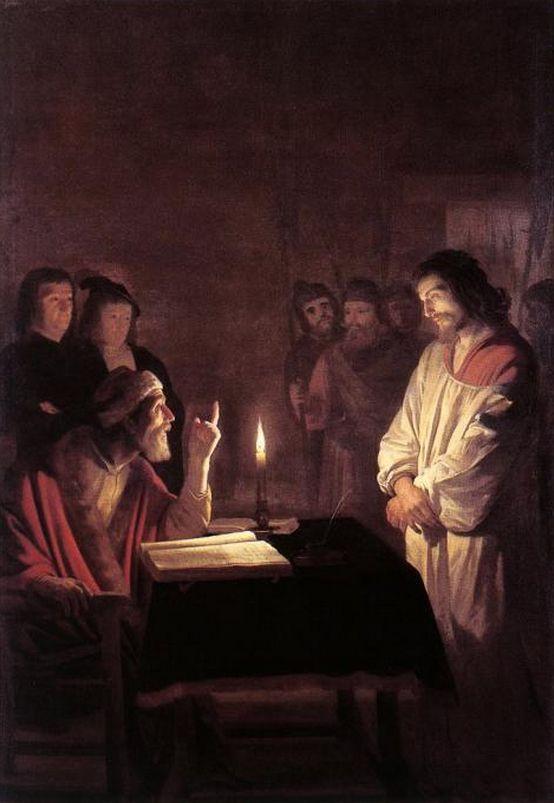 Gerrit van Honthorst - Le Christ devant le grand prêtre. 1617