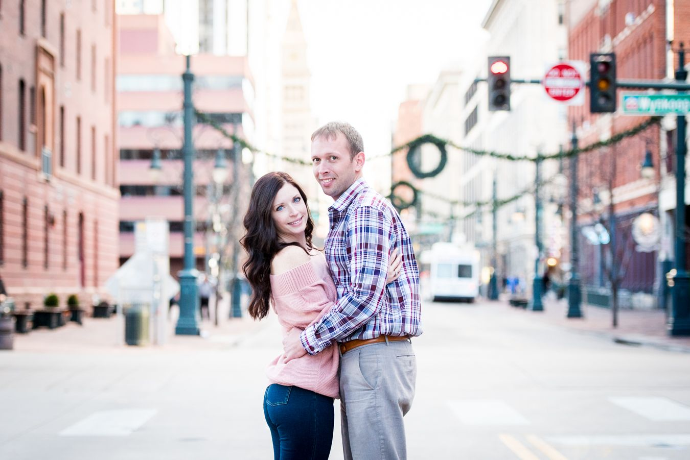 Downtown Denver Engagement Session with Your Golden Doodle