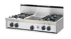 36 Inch Bluestar Gas Range With Griddle Modern Cooktops Cooktop Range Top