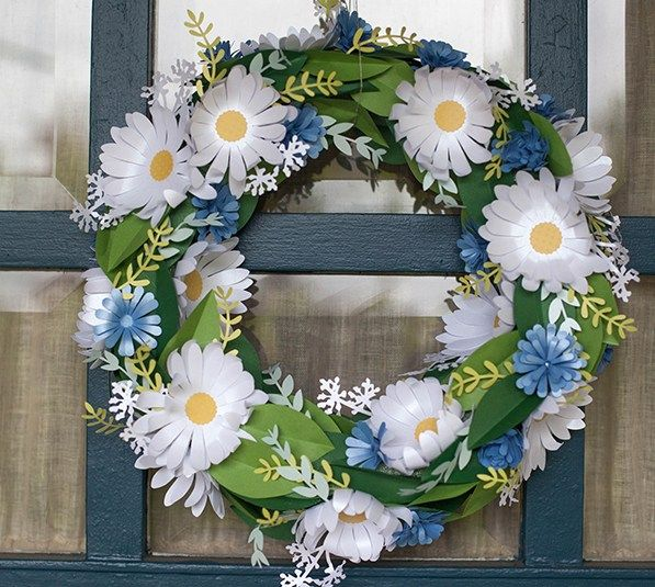 Summer Wreath Made With Images From The Four Season Home Decor Cricut Cartridge By Lia Griffith