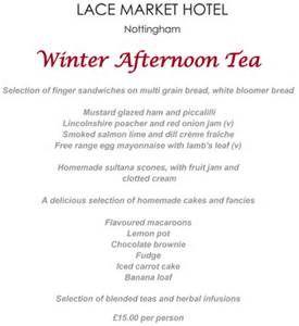 British Tea Menu