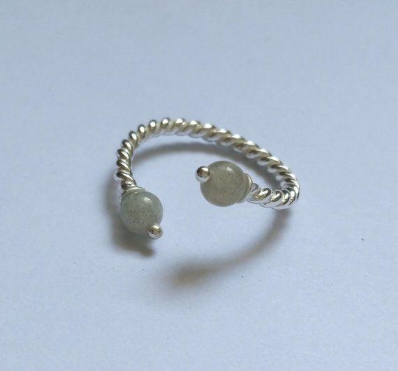 Bague little stone - Labradorite et argent 925