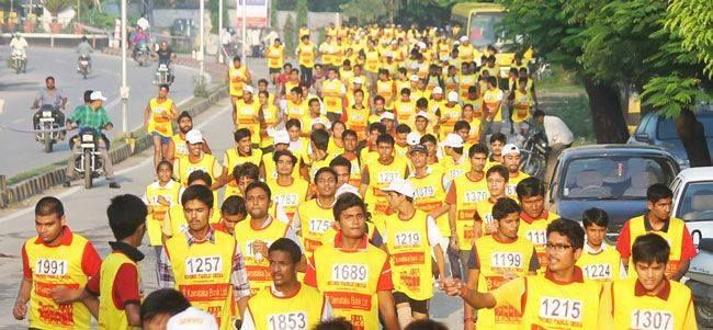 Students Of Pacific University Participeted In Run For Reason Udaipur Udaipur University Student