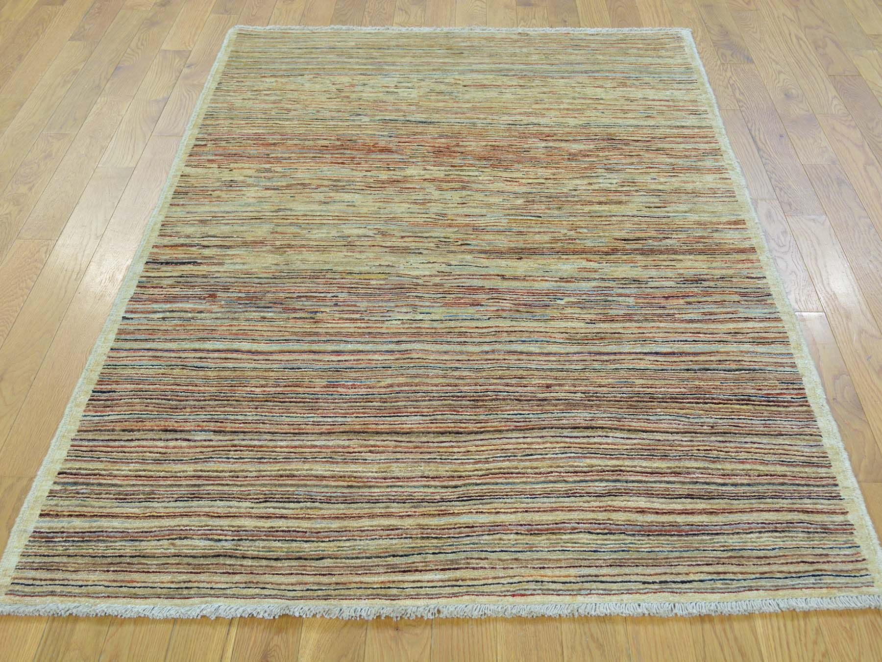 4 X6 Pure Wool Peshawar Gabbeh Hand Knotted Oriental Rug Rugs