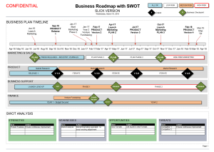 Business Roadmap With Swot Template Visio  Strategy