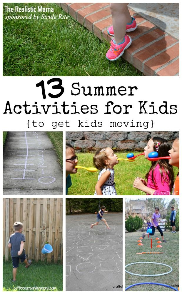 13 gross motor activities for kids -- great for Spring and Summer!