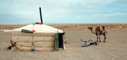 People Living in the Desert | Nomads live in a circular white tent called a ger & People Living in the Desert | Nomads live in a circular white tent ...