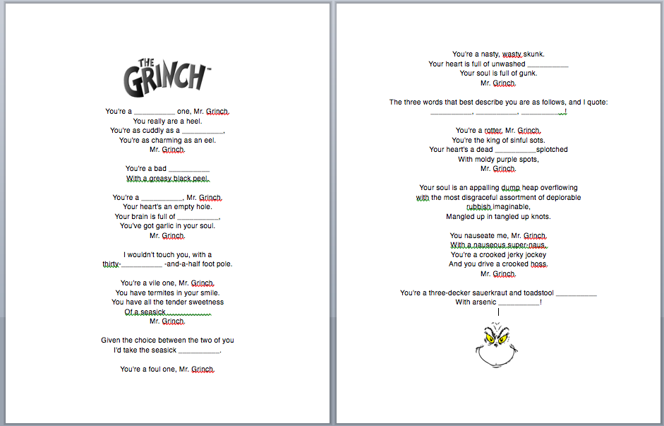 How The Grinch Stole Christmas Lyrics.Pin On Grinch