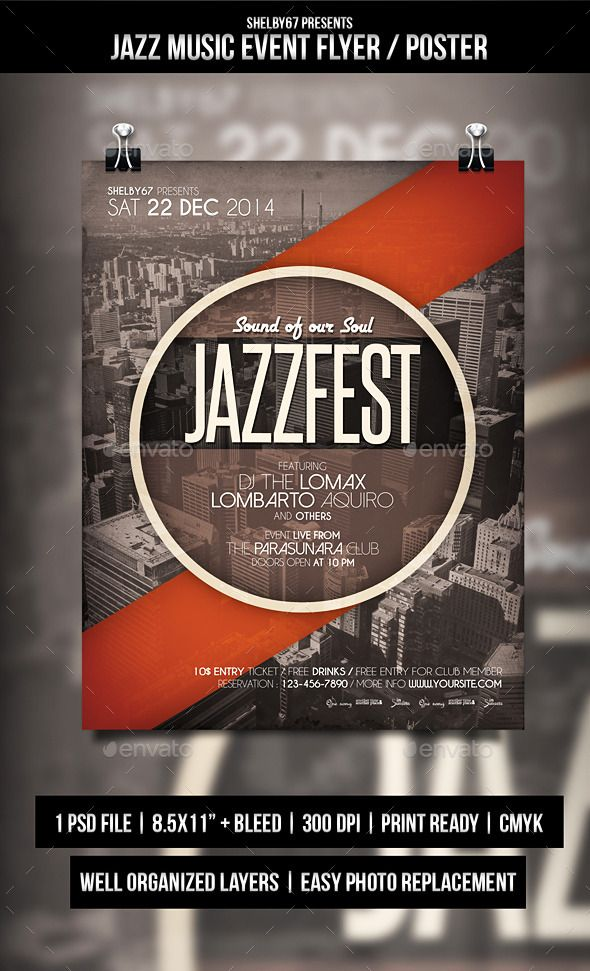 Jazz Music Event Flyer  Poster  Event Flyers Jazz Music And Jazz