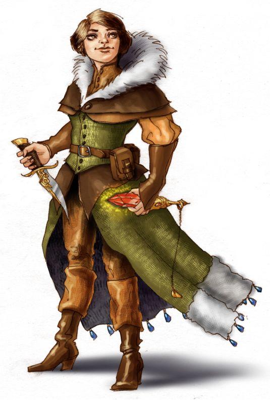 Female Gnome: Halfling Half-Orc Tiefling Gnome Dragonborn Fantasy