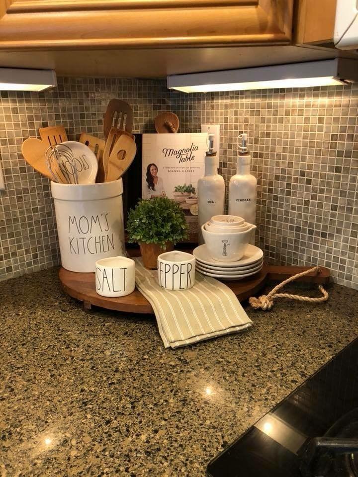 Pin by Ann Richards on kitchen decorations | Farmhouse ... on Farmhouse Kitchen Counter Decor Ideas  id=71002