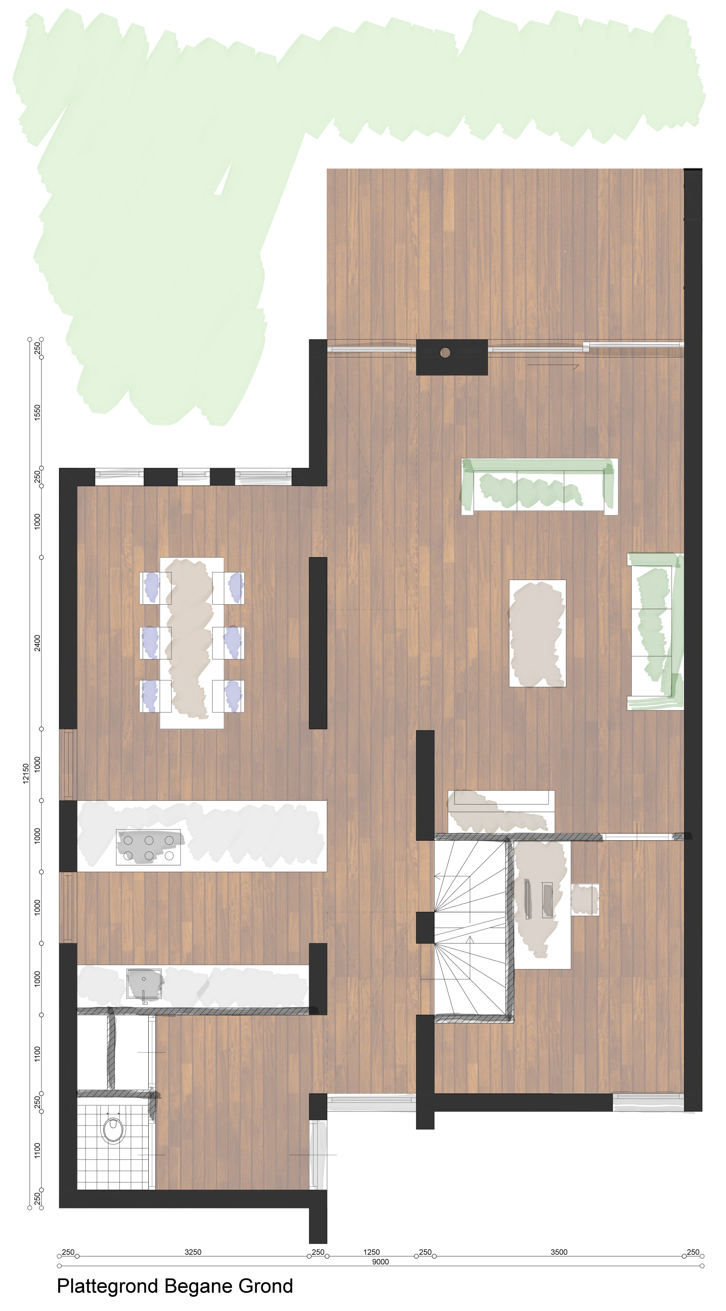 Plattegrond moderne woning google zoeken keuken pinterest zoeken google en plattegronden - Plan indoor moderne woning ...