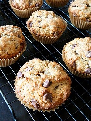 Peanut Butter Banana Chocolate Chip Muffins!! Will be making these for this weekend :)