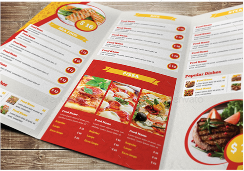 restaurant menu brochure - Etame.mibawa.co