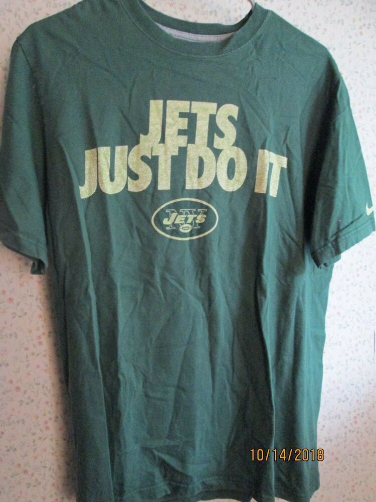 newest 9dd4f acd02 NY Jets Nike NFL Team Apparel Large T-shirt Jets Just Do It ...
