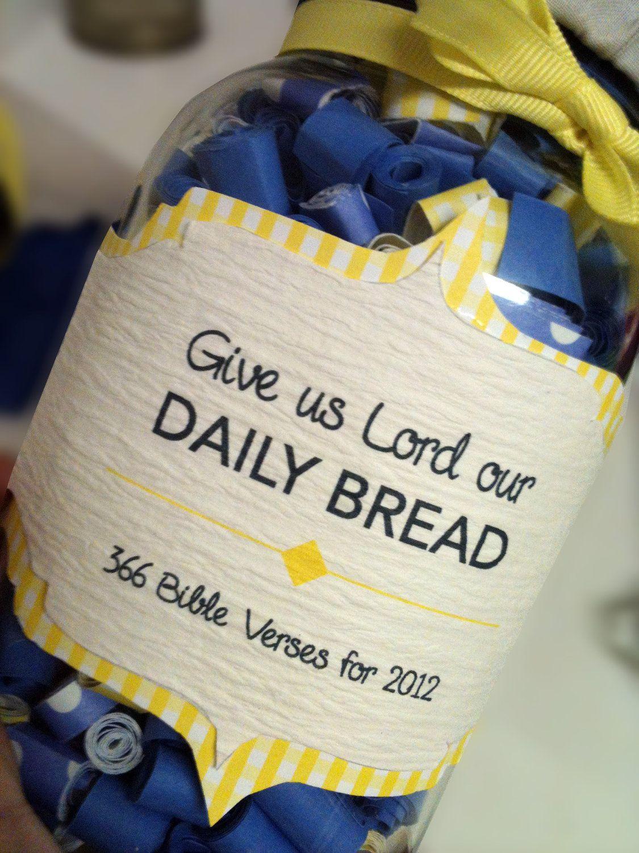 Bible verses in a jar