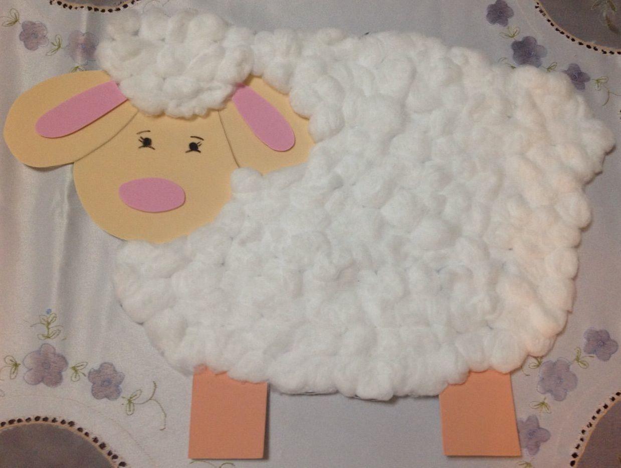 Oveja de algod n y foami para rinc n b blico - Como hacer una oveja ...