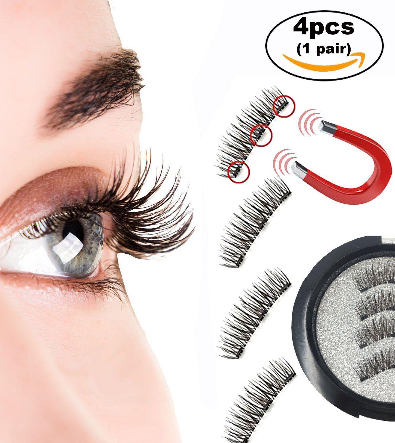 359e894281b Magnetic Eyelashes with 3 Strong Magnets Long Ultra Thin Full Size Magnetic  False Eyelash Extension Set
